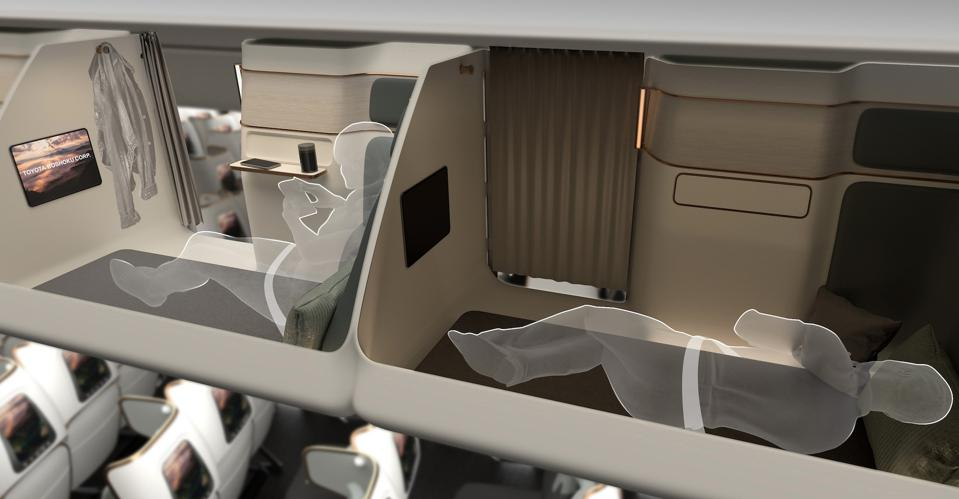 Double decker sleeping arrangements from Toyota for the Crystal Cabin Awards