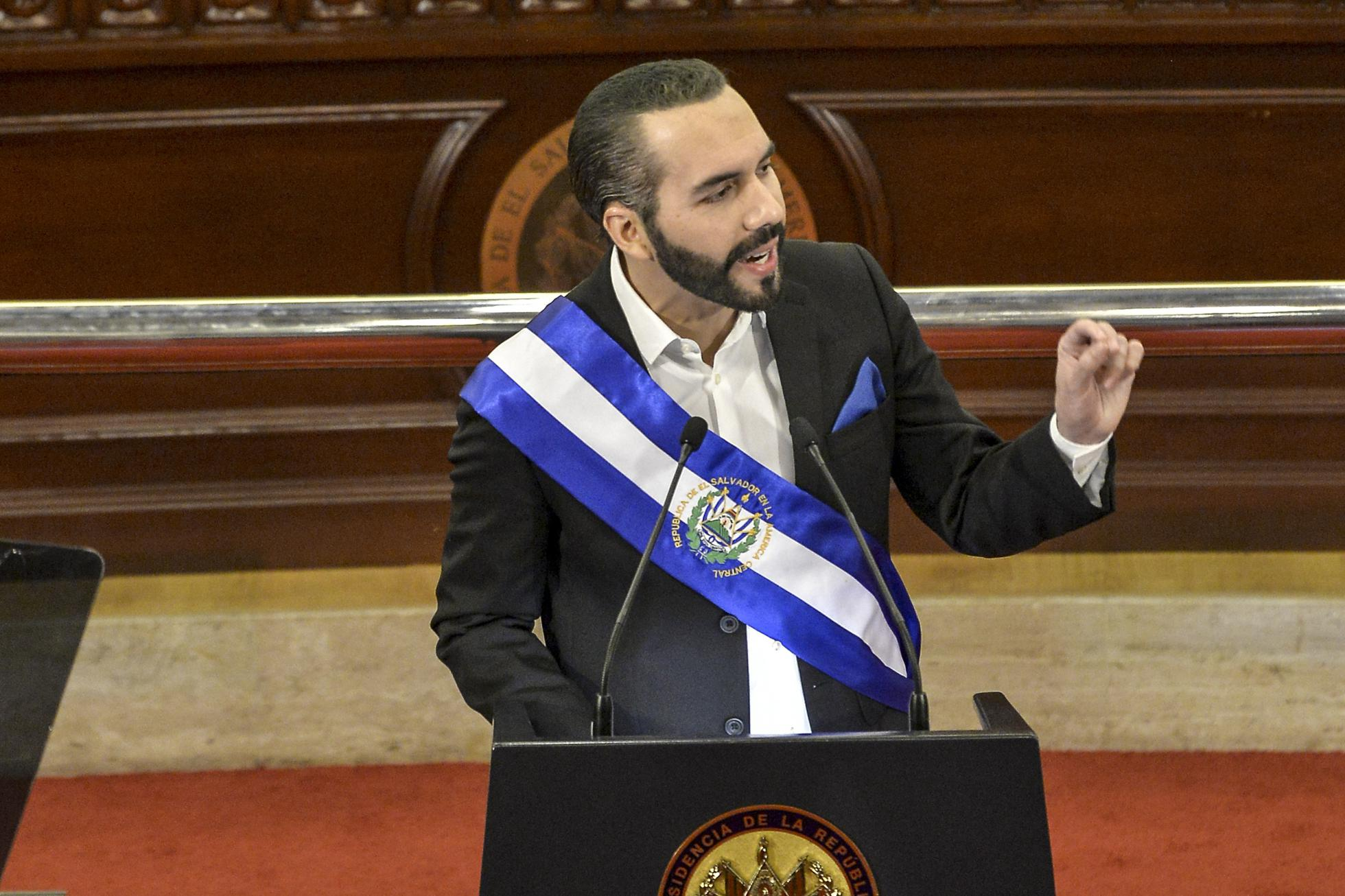 El Salvador president Nayib Bukele