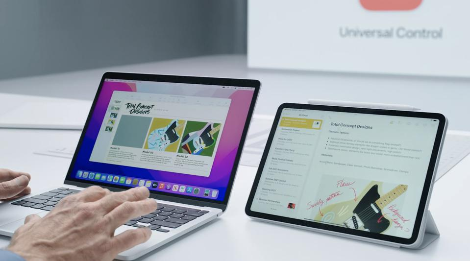 Control your iPad with your MacBook Pro keyboard and mouse.