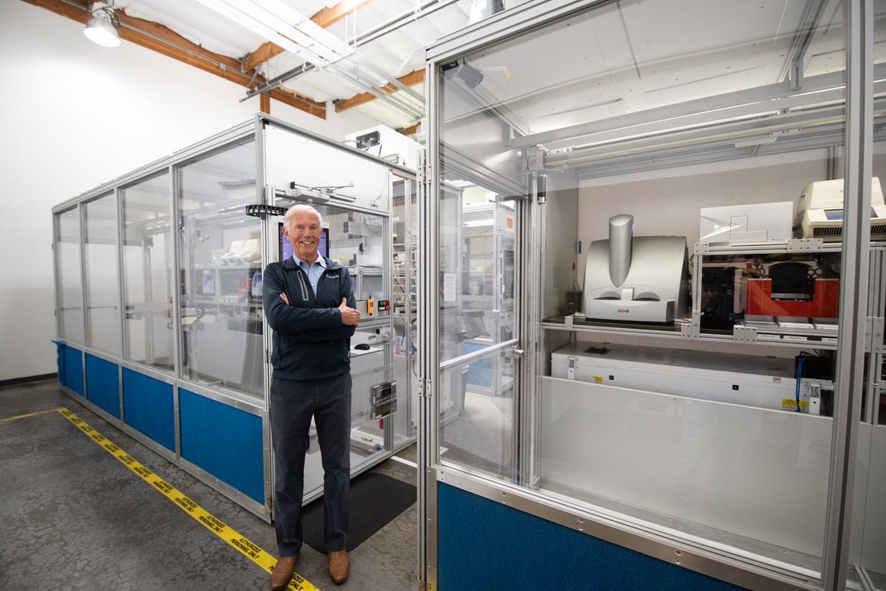 Strateos CEO Mark Fischer-Colbrie at the company's Menlo Park, California, lab.
