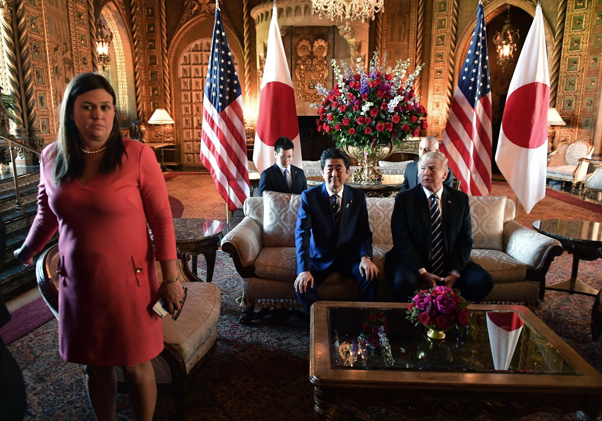US-JAPAN-DIPLOMACY-TRUMP-ABE