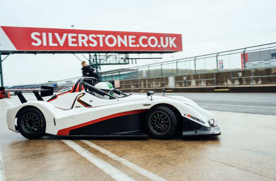 Radical SR1 in the pit lane of the Silverstone GP Circuit