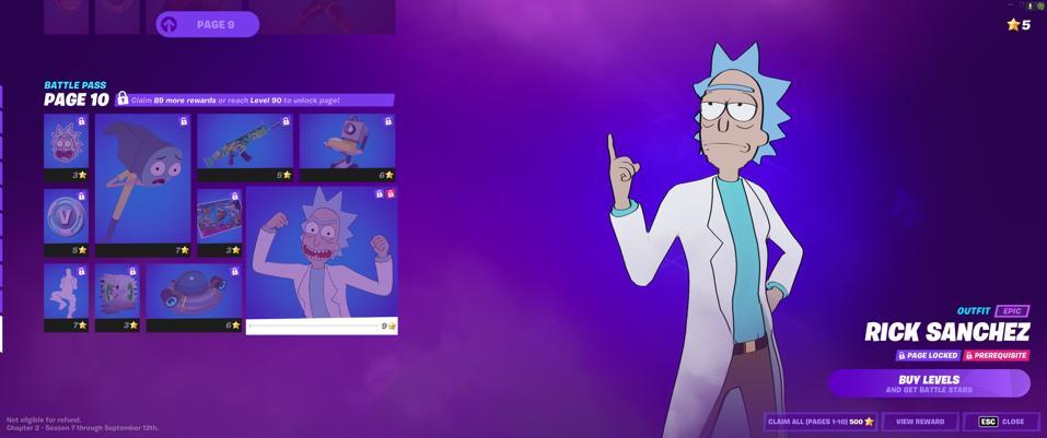 Rick and Morty Fortnite