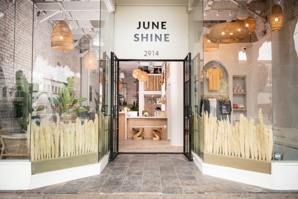 JuneShine's Santa Monica tasating room