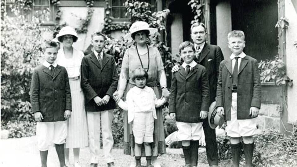 Rockefeller family portrait, summer of 1920, Seal Harbor, Maine.