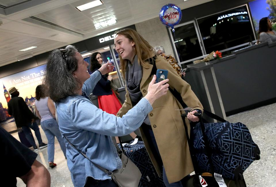 One of the last EU flights landing at Dulles Airport March 13, 2020 before the U.S. travel ban began