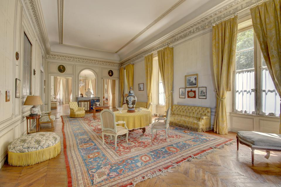 reception rooms inside a Center of France – 17th Century castle with a large history