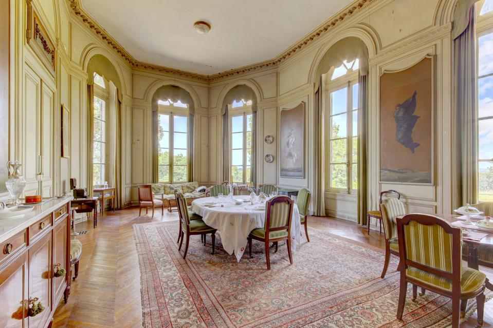dining room inside a 17th century french castle groupe mercure