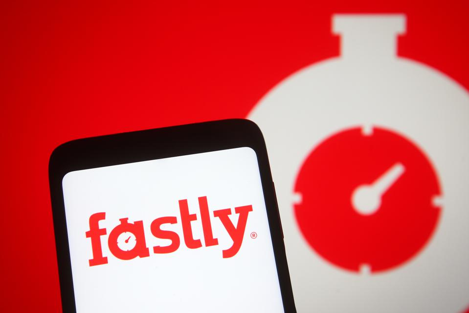 Logo of U.S. cloud computing provider Fastly.