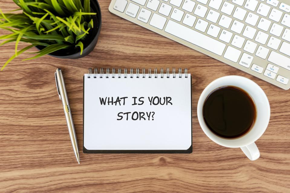 What Is Your Story Text on Note Pad