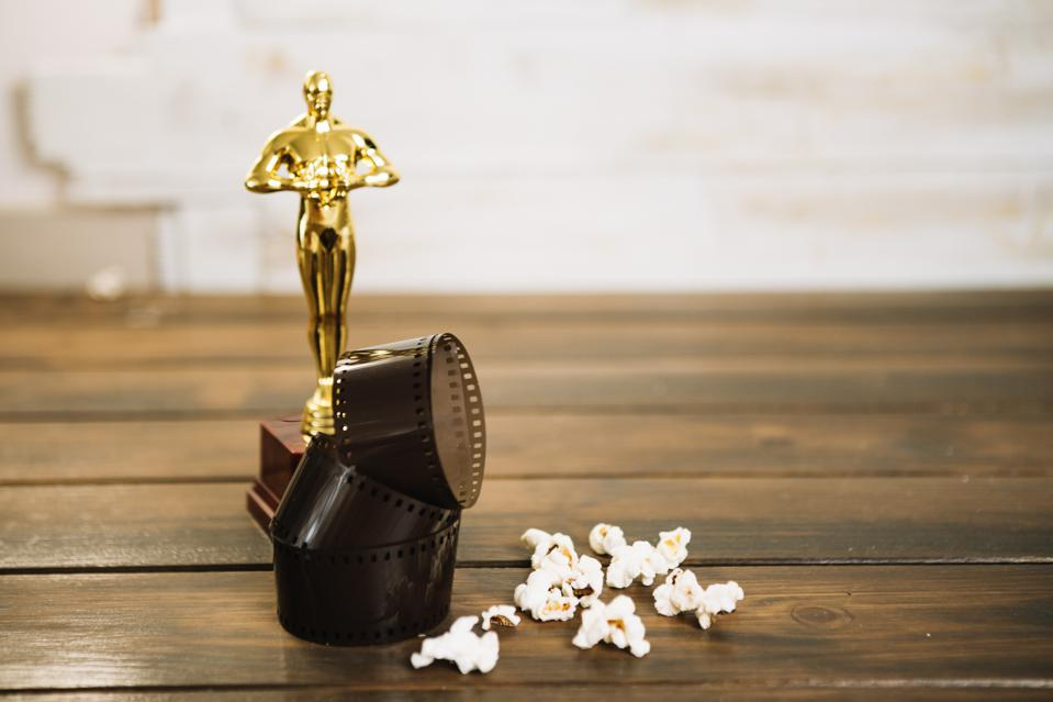 oscar statuette film popcorn . High quality and resolution beautiful photo concept