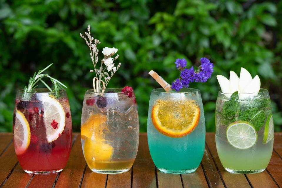 Four summer drinks.