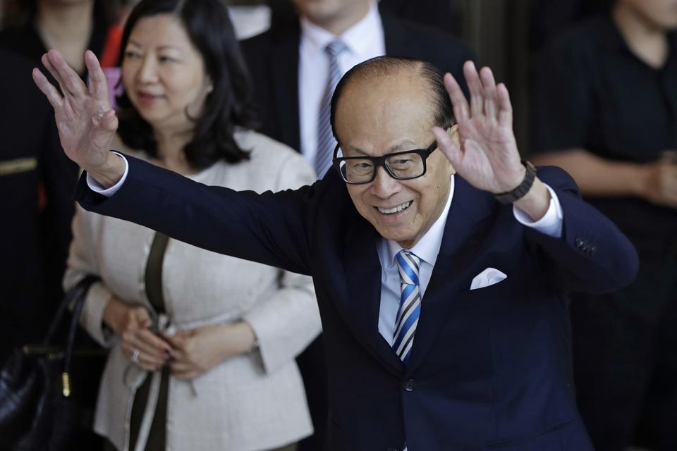 Billionaire founder of CK Hutchison Holdings company Li Ka-shing.