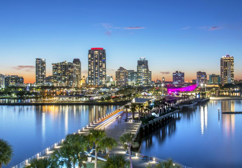 Florida, Saint Petersburg, Skyline, Tampa Bay