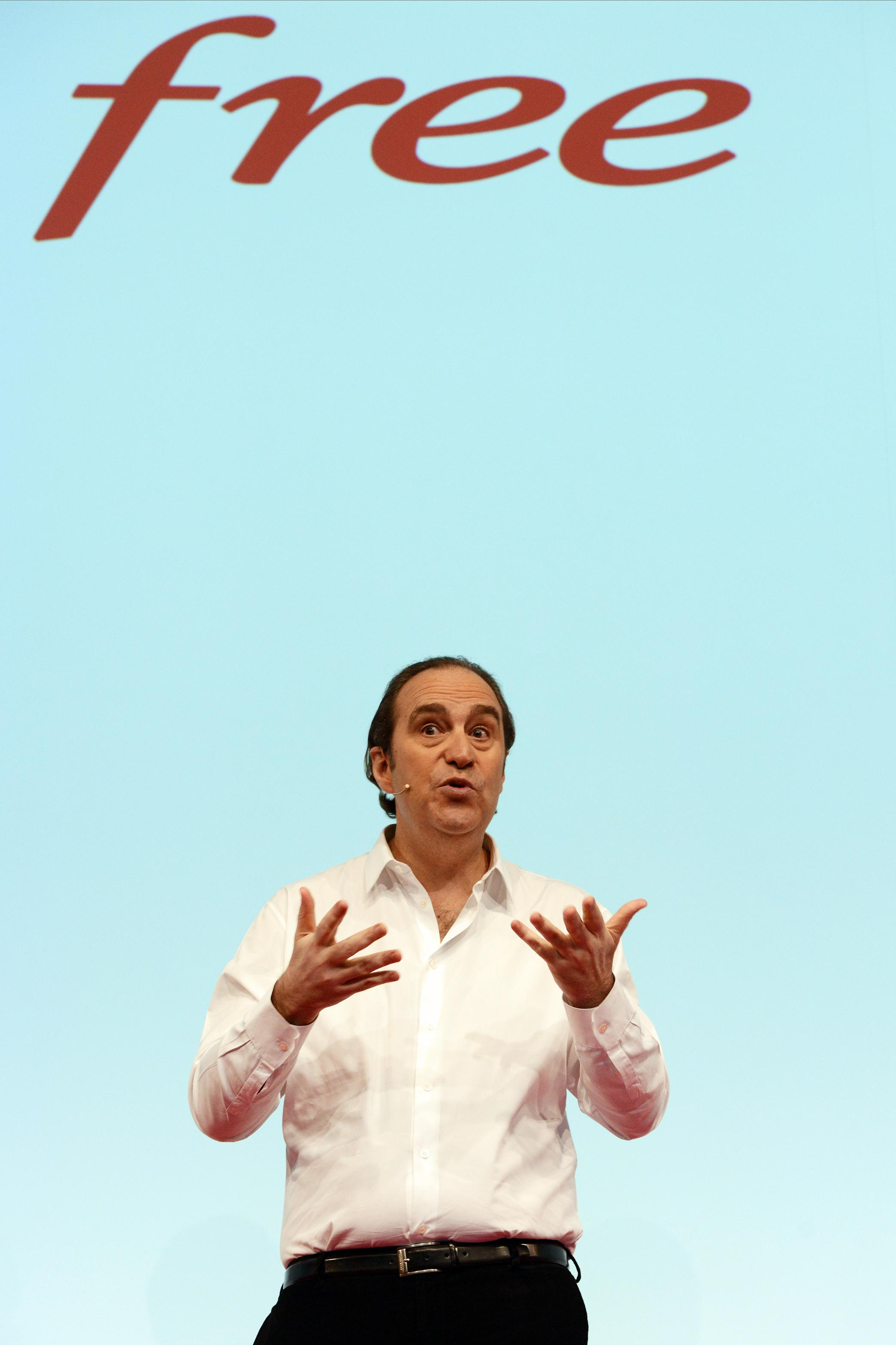Xavier Niel launches 'Free Box Mini 4k' in Paris