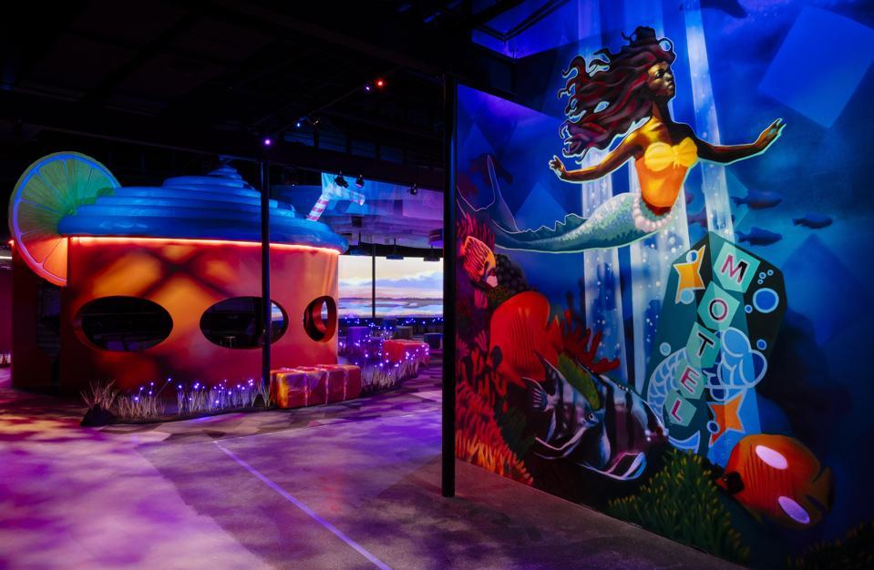 Intérieur du parc des expositions St. Pete.