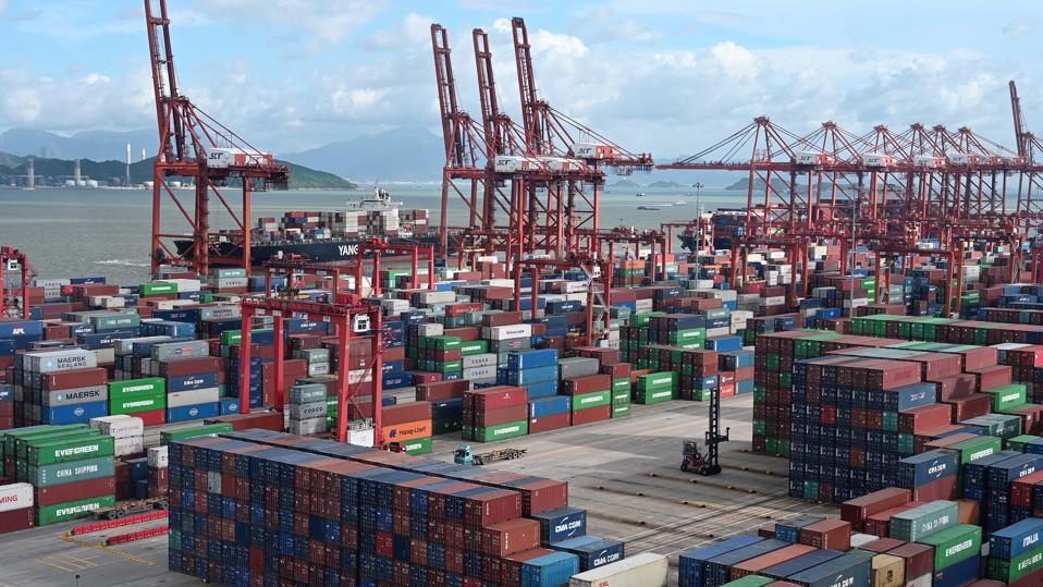 Shekou Port located on western side of Shenzhen, China