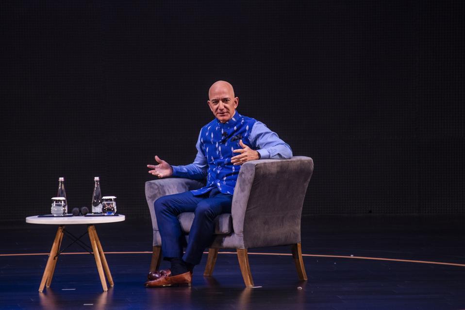 Amazon CEO Jeff Bezos Attends Amazon's Annual Smbhav Event In Delhi