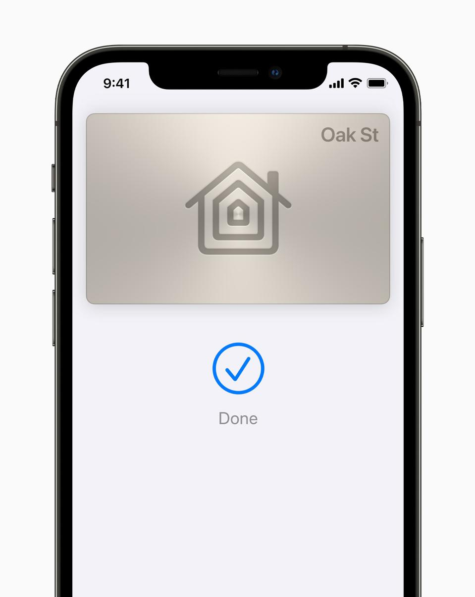Screenshot of an iPhone with a home key
