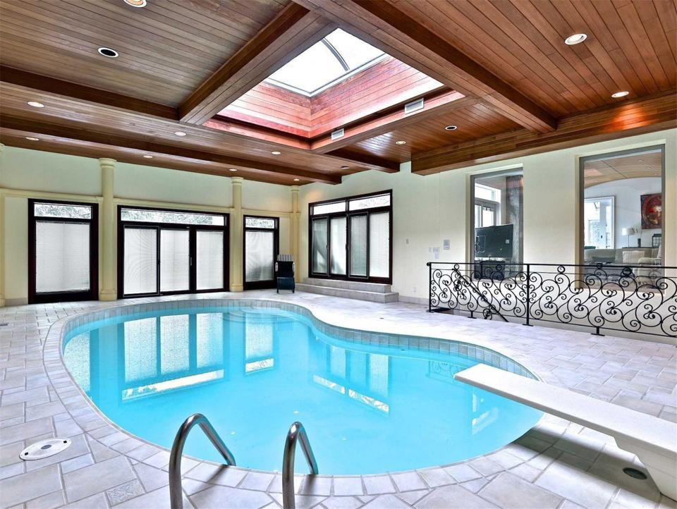 indoor swimming pool in toronto at a private home