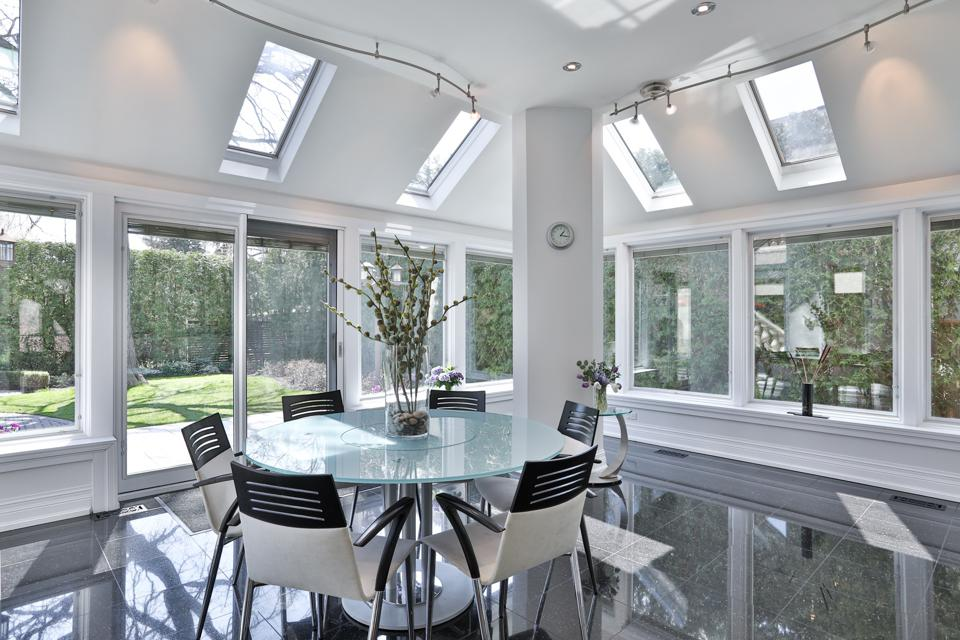 atrium dining room inside luxury toronto home on old country road