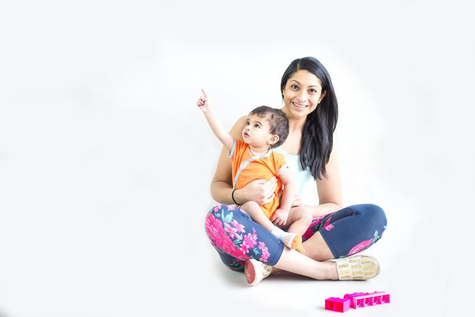Pallavi Golla and her son.