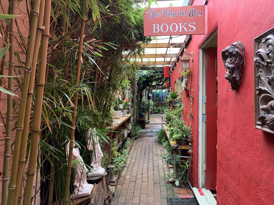 Pilgrim's Way Books and Secret Garden. Carmel-By-The-Sea, CA