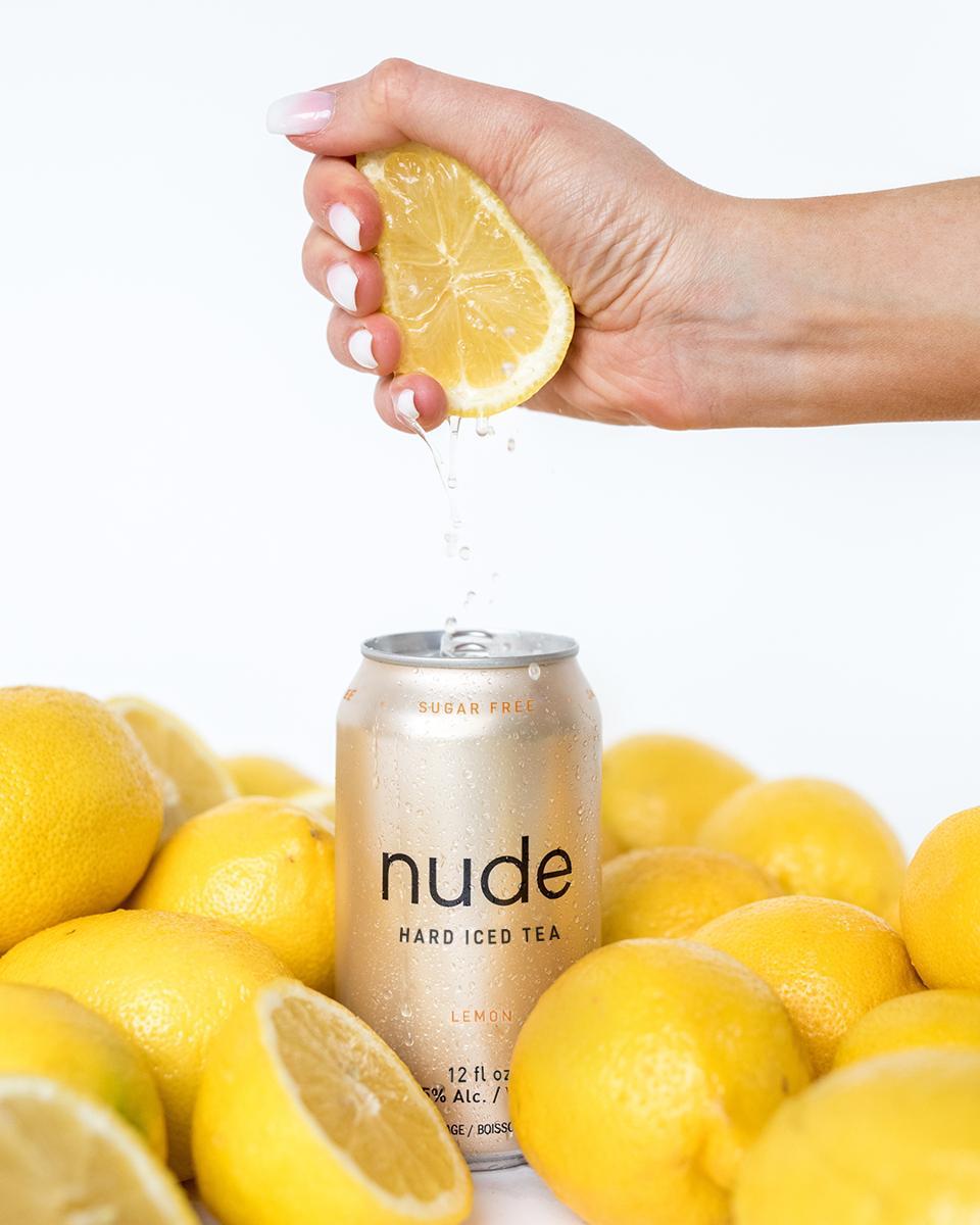 Nude Hard Iced Tea in lemon.