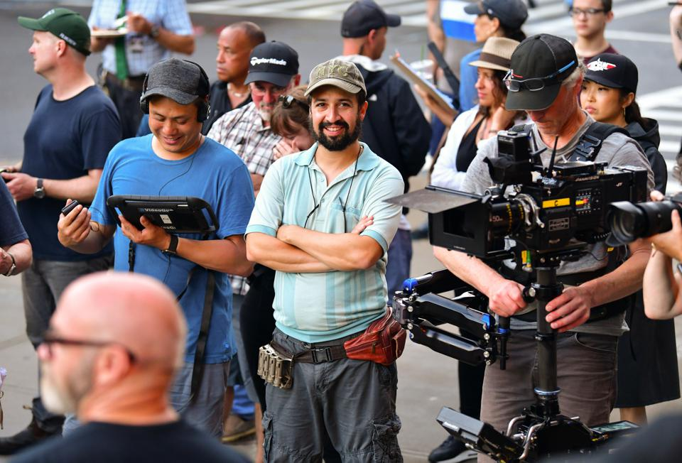 Lin-Manuel Miranda and director Jon M. Chu on location for 'In the Heights'  June 20, 2019