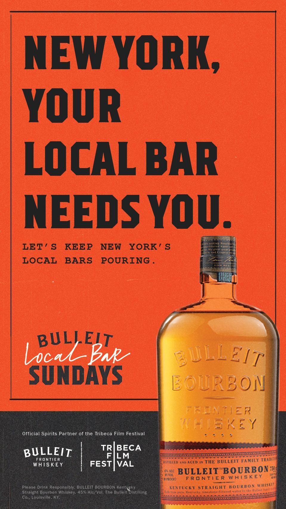 A poster of Bulleit bourbon.