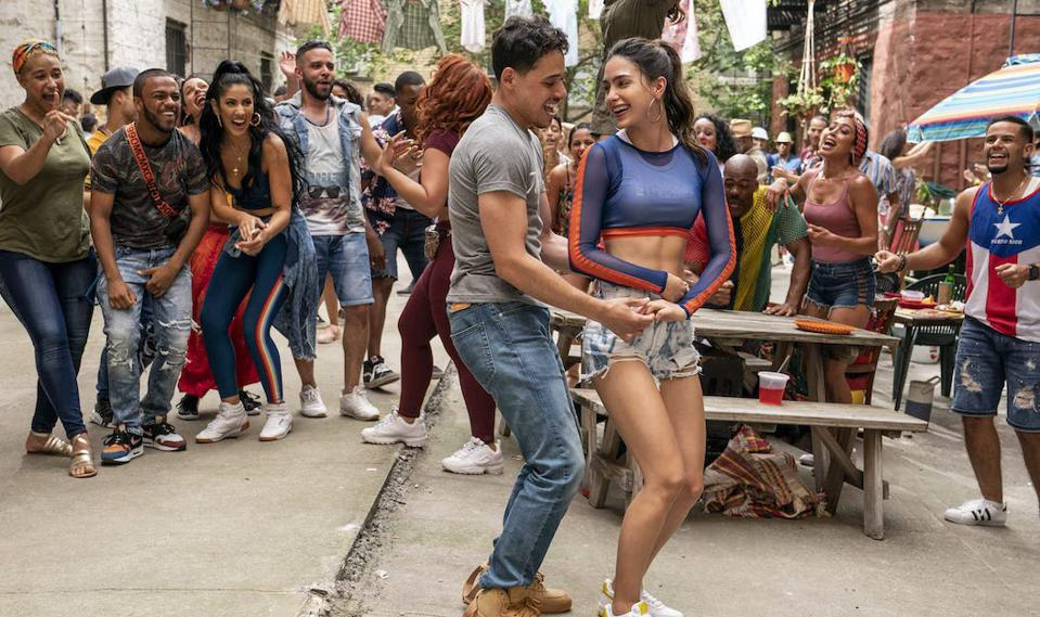 Actors Anthony Ramos and Melissa Barrera in a scene from ″In the Heights.″