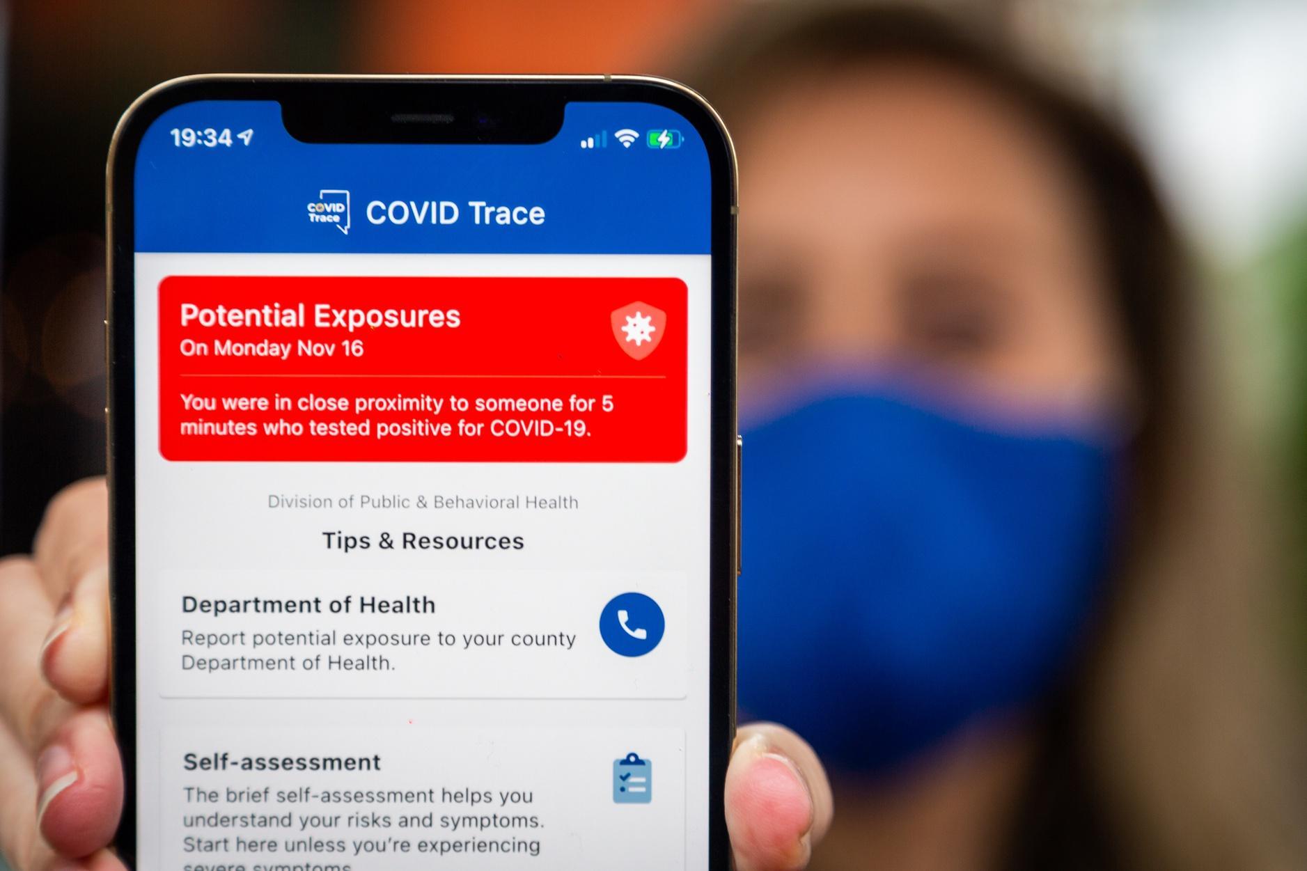 Bluetooth Covid-19 exposure notification app