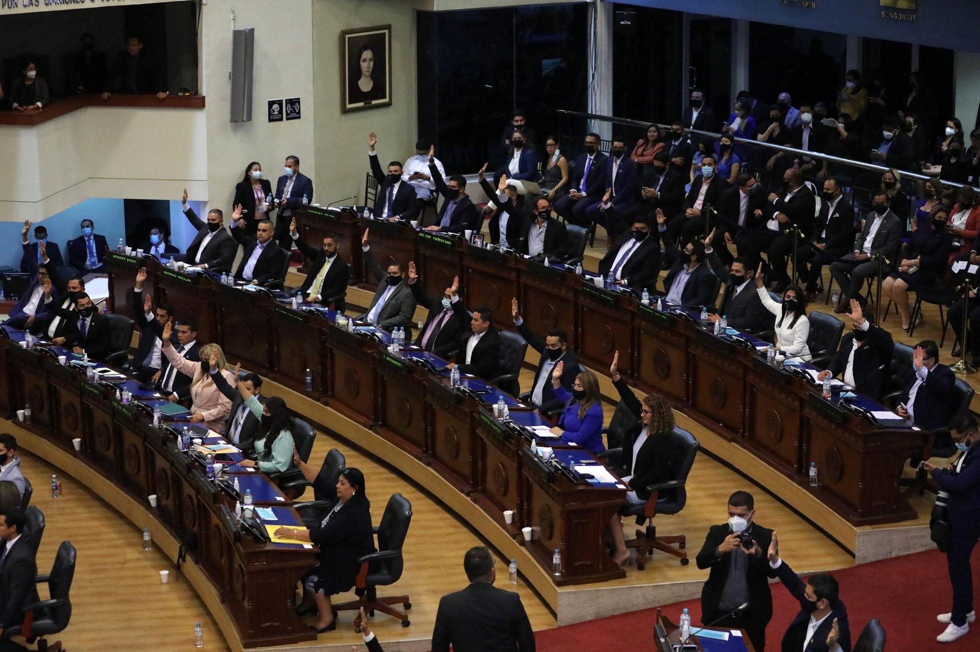EL SALVADOR-ASSEMBLY-DIRECTORS-VOTE