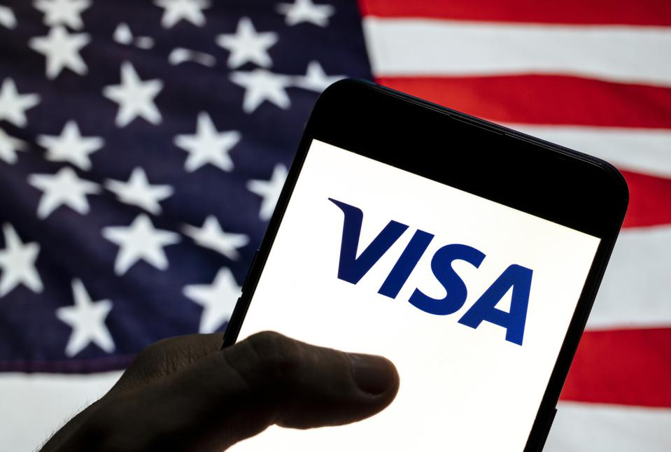 In this photo illustration the American multinational...