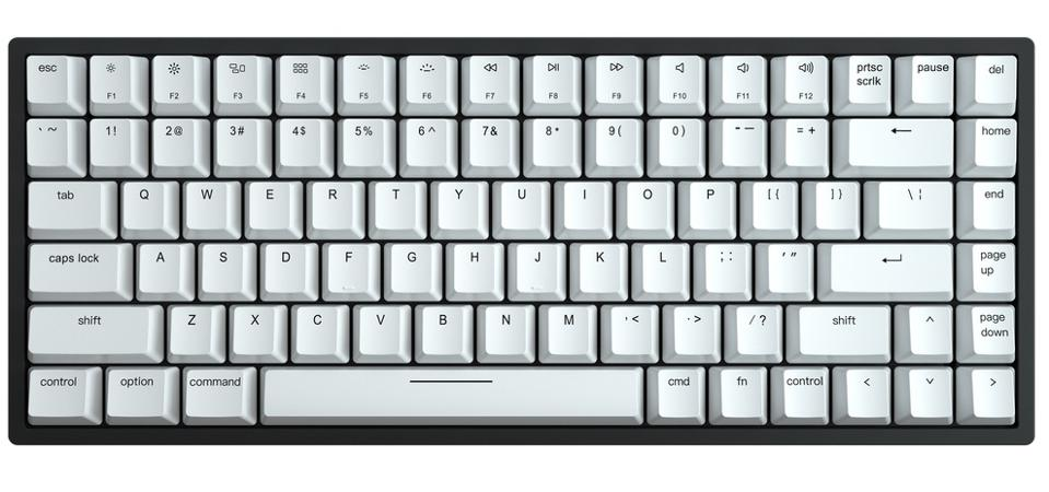 Aerial view of the Vissles V84 mechanical keyboard