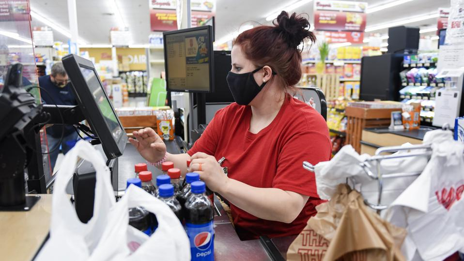 Grocery Store In Pennsylvania During COVID-19 pandemic