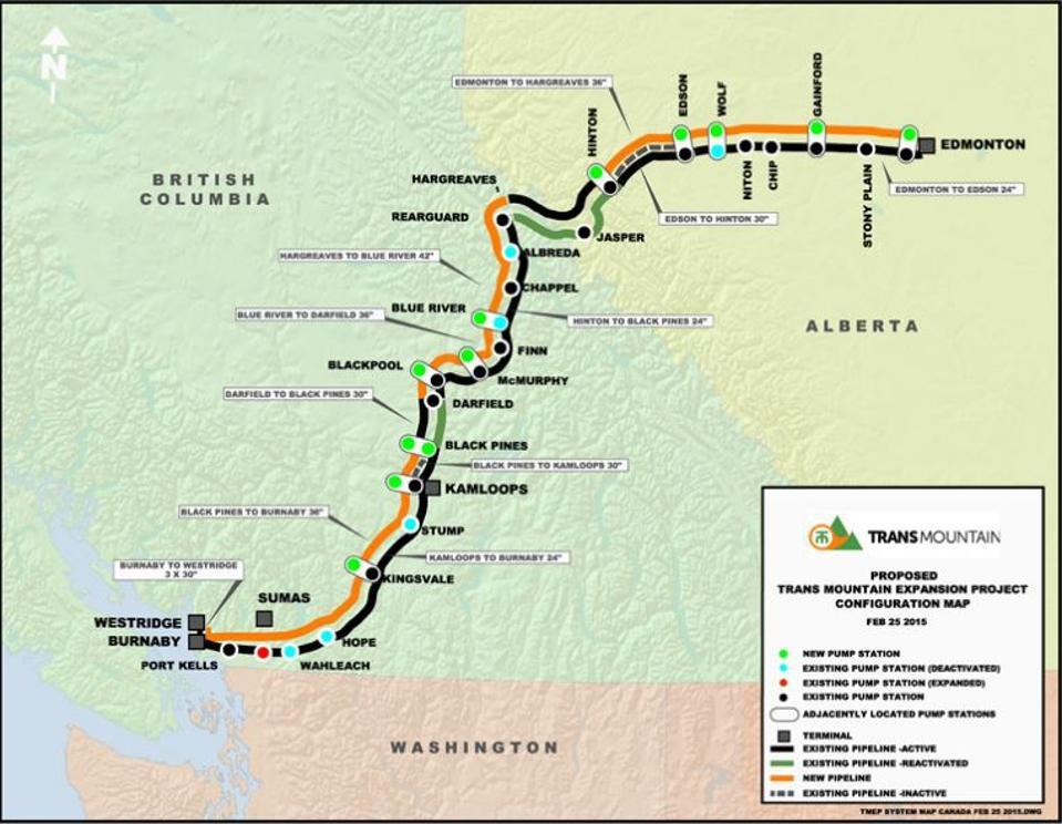 Карта Трансгорного газопровода