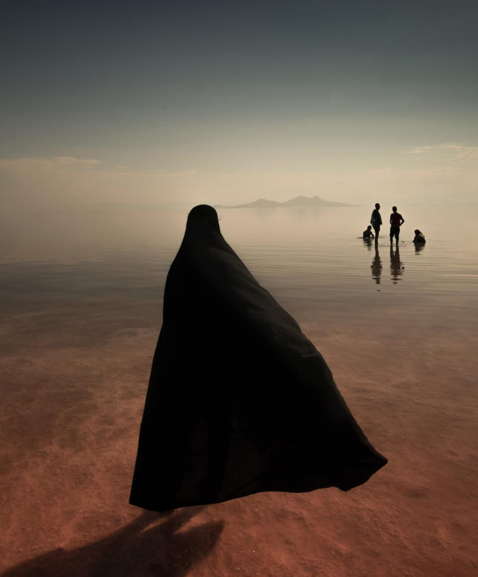 Lake Urmia, the largest lake in the Middle East.