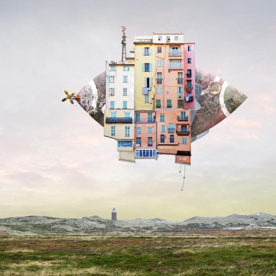 Floating House Winning Creative Photo Siena Awards