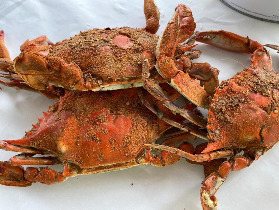Crabes bleus cuits du Maryland
