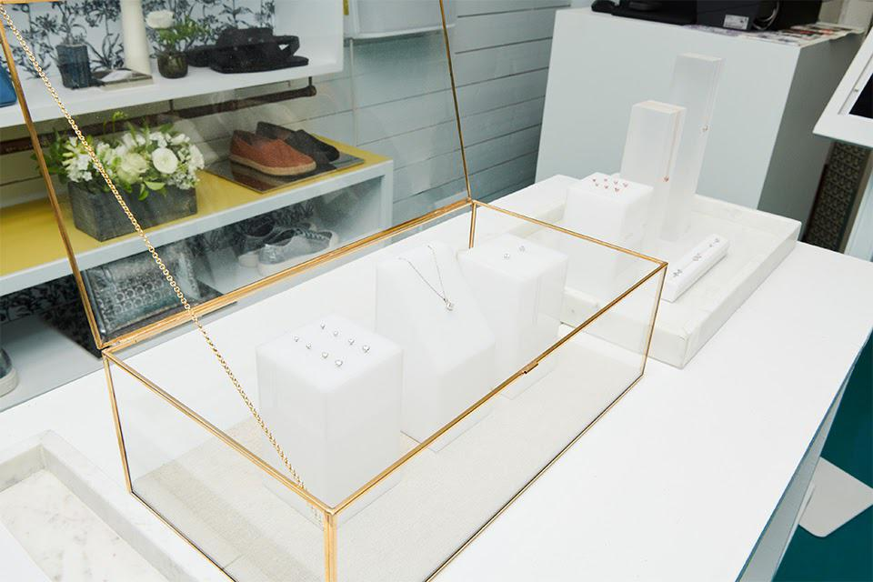 An ephemeral Lightbox jewelry store is on display at the Surf Lodge