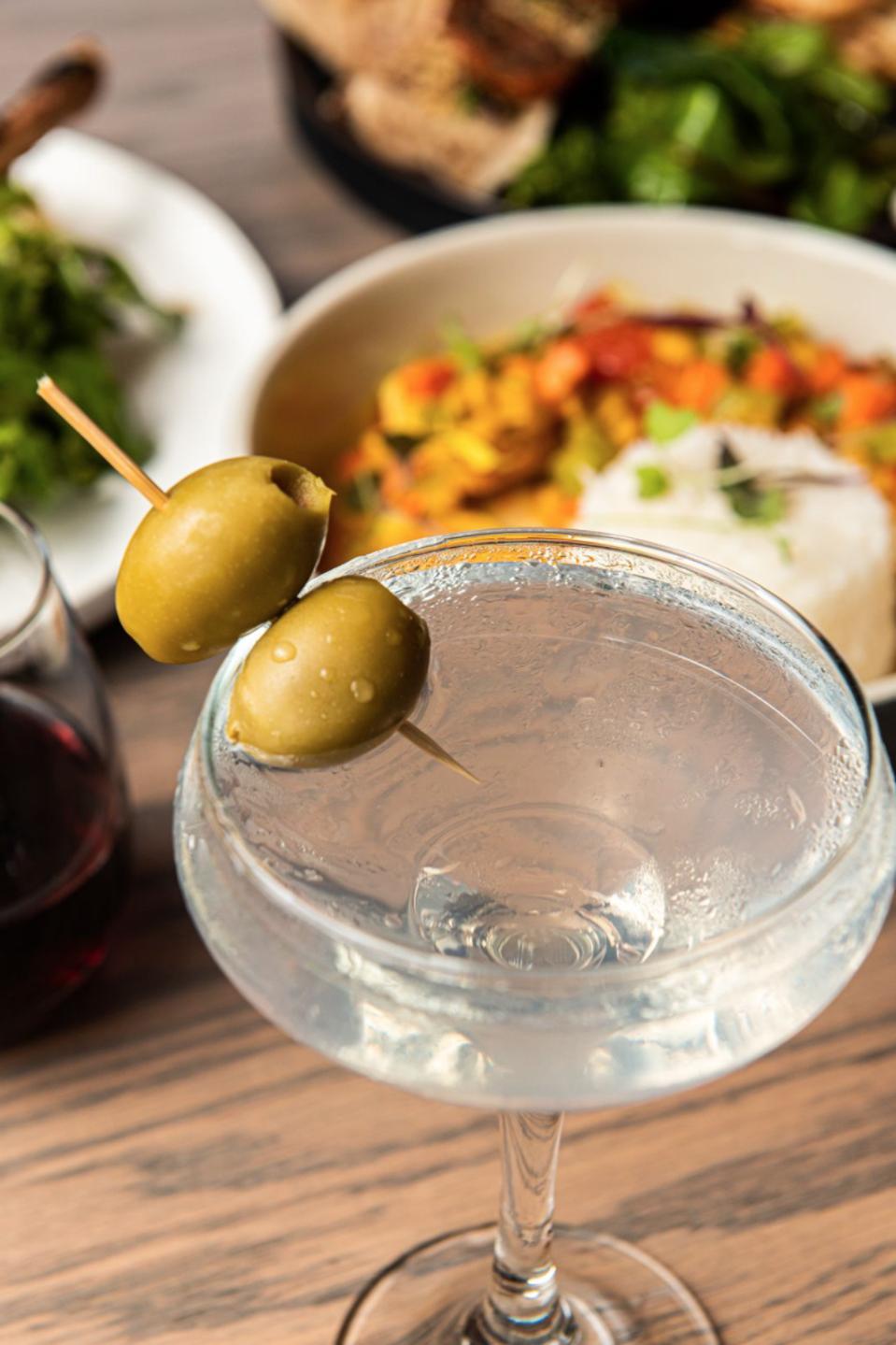 Wilder's filled olive martini