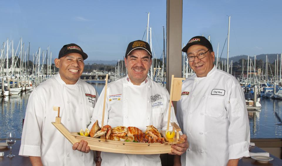 """Chef Timo, Executive Chef Juan and Chef Rene with the """"Boat Load of Land and Sea for Two"""""""