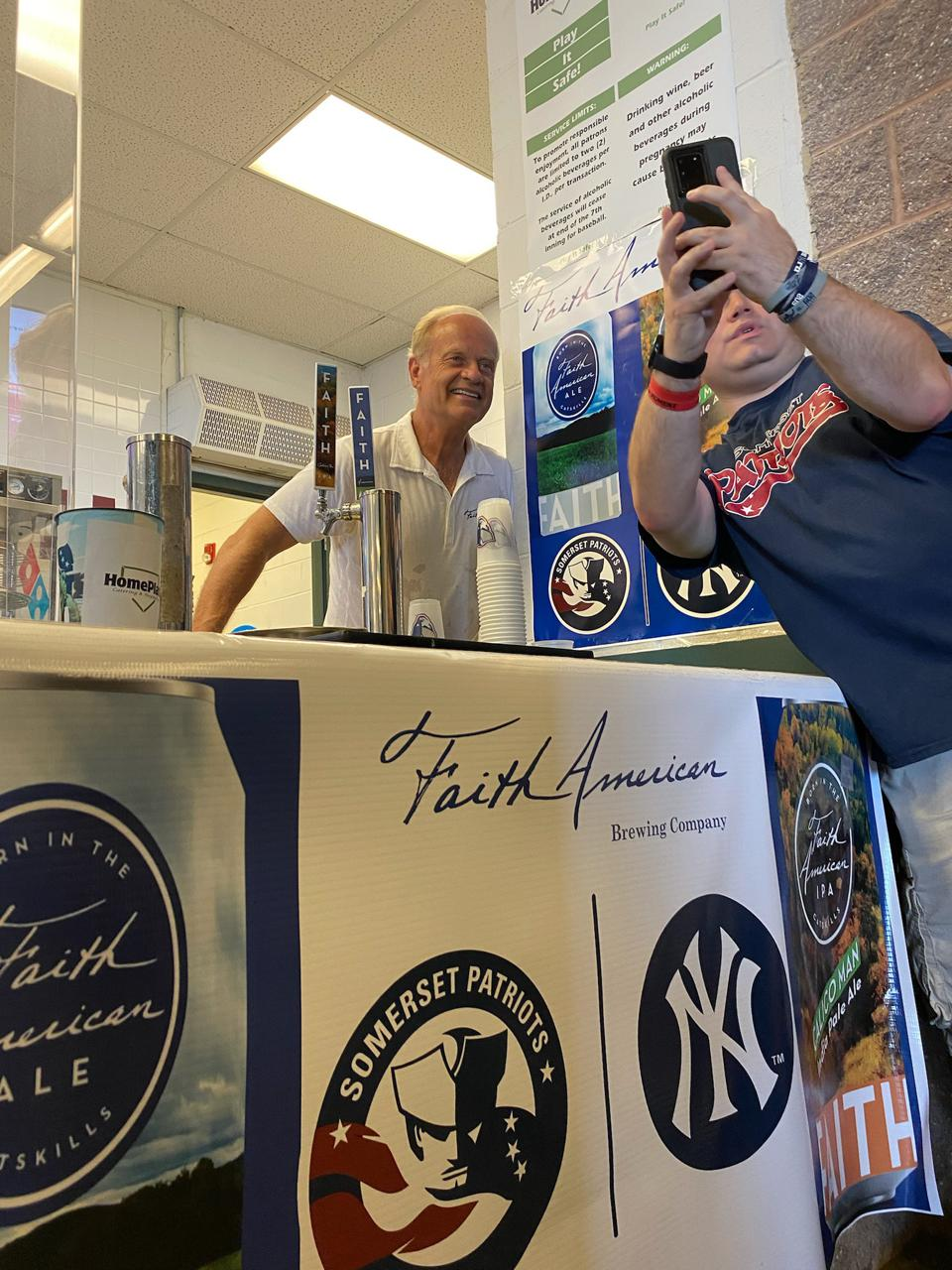 Kelsey Grammer met fans and promoted his pair of beers at TD Bank Ballpark.