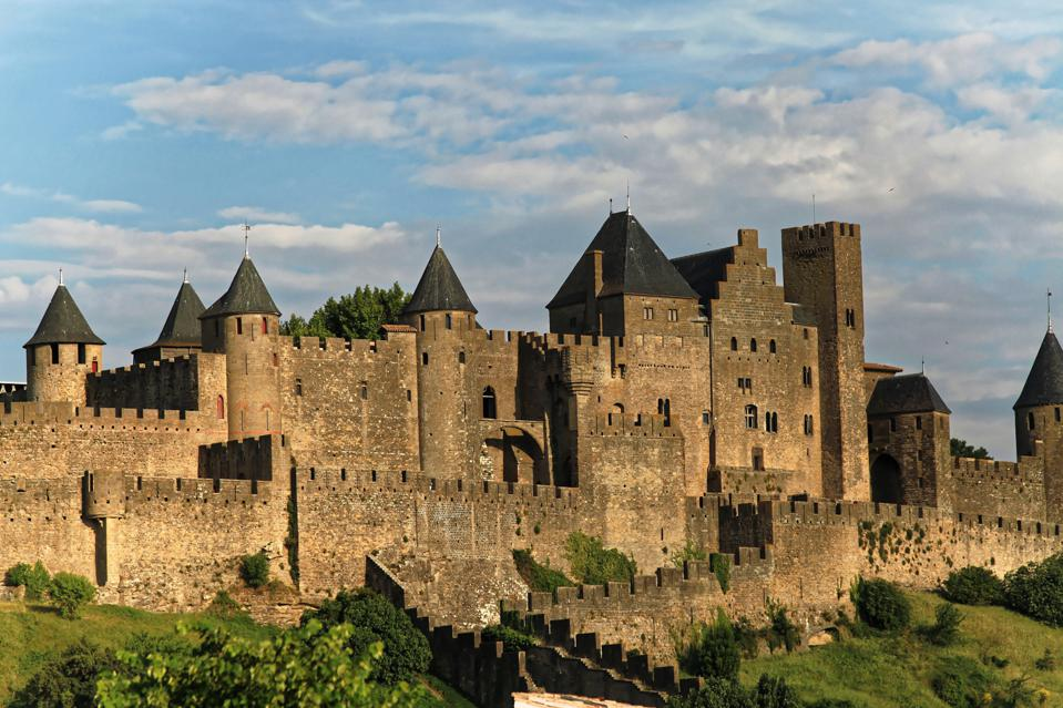 The Castle and the ramparts of Carcassonne.
