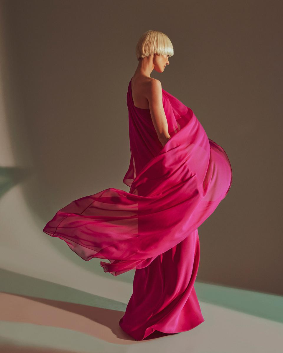 A look from the Halston x Netflix capsule collection
