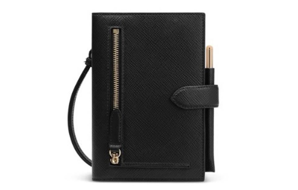Panama Notebook Organiser with Strap by Smythson
