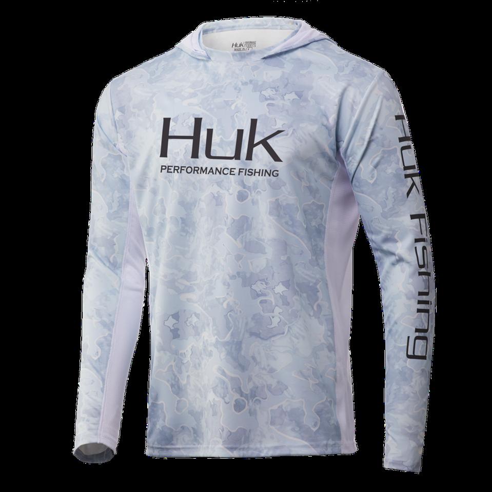 HUK ICON X CURRENT CAMO HOODIE