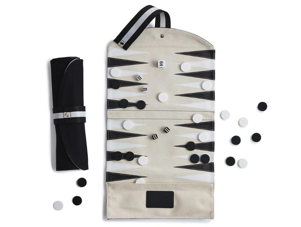 Travel Leather Backgammon Set by Not-Another-Bill