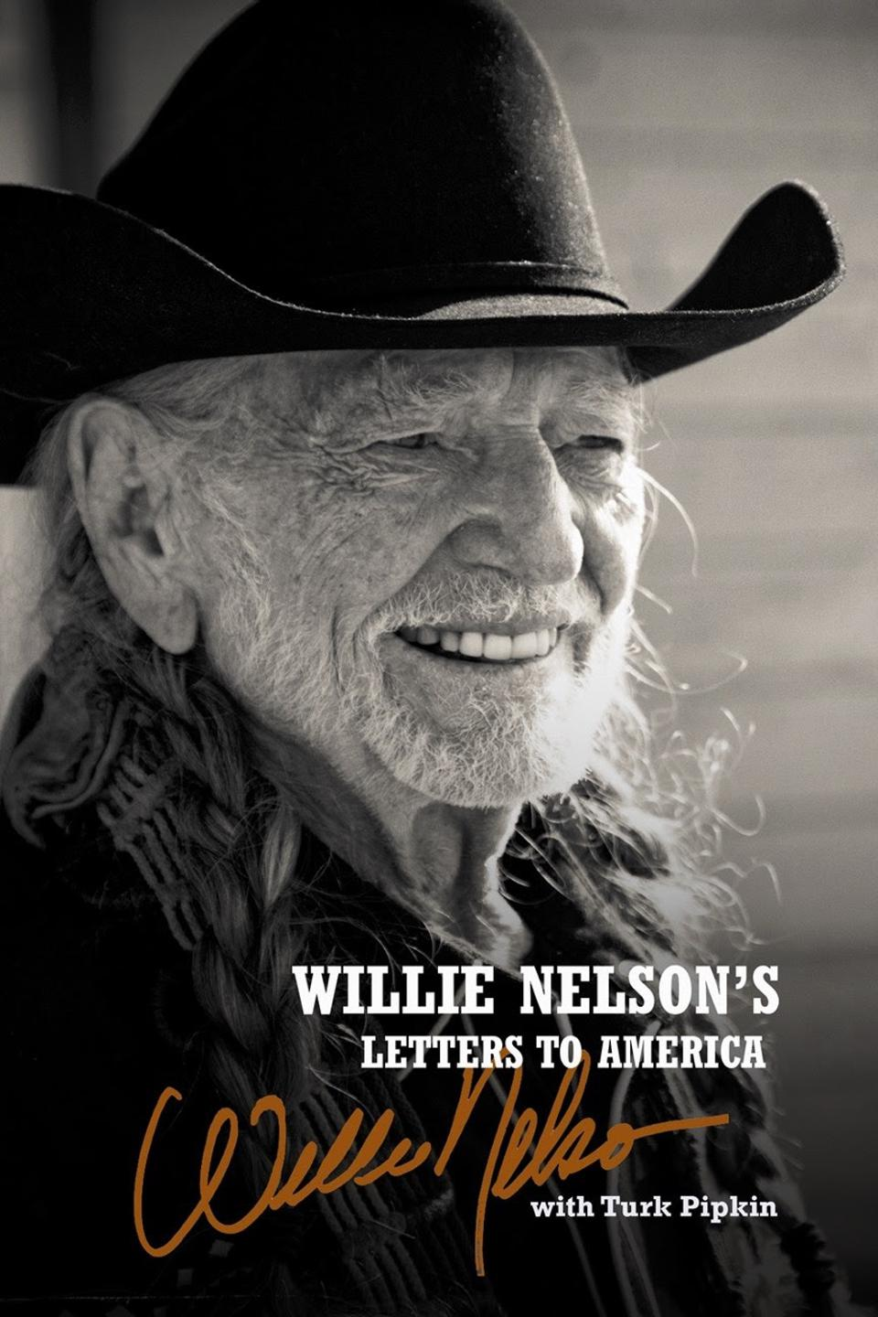 The cover of Willie Nelson's Letters to America.